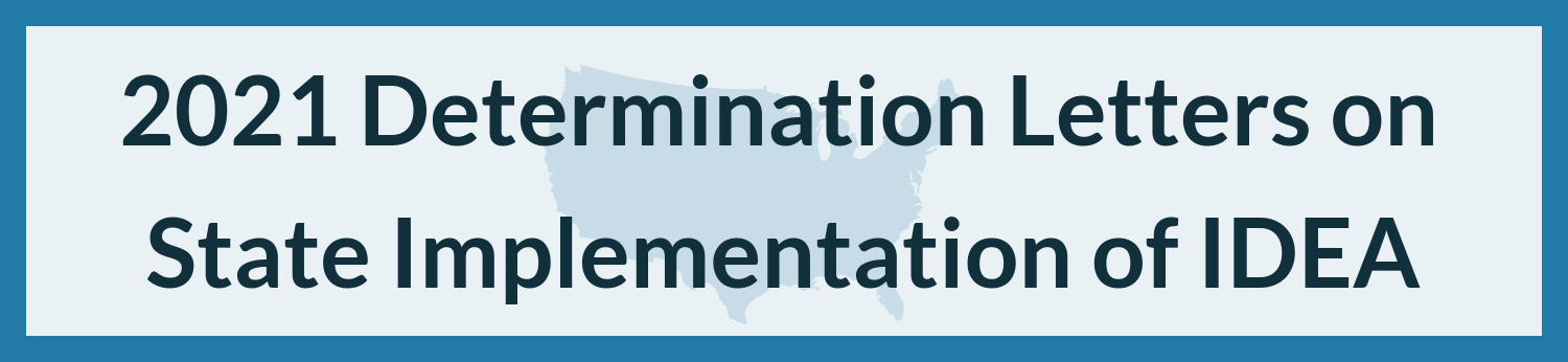 Image of United States. Reads 2020 Determination Letters of the Implementation of IDEA