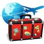 Globe,Plane, Suitcase