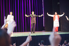 Surgeon General, along with the ballerinas and other guests, led the children to the Millennium Stage, where he was joined by a bhangra dance troupe.