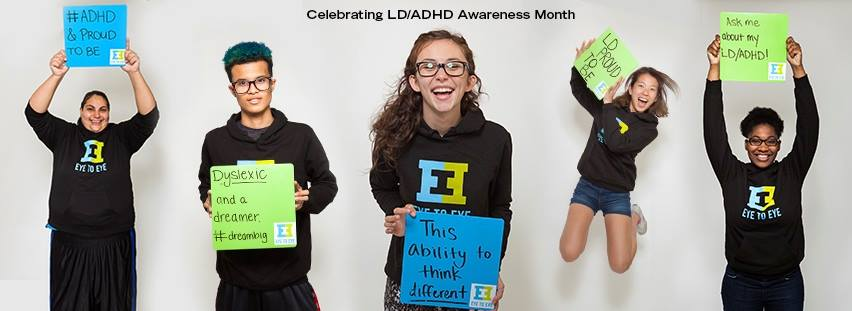 "Eye to Eye's ""Different Thinkers"" celebrating LS/ADHD Awareness Month"