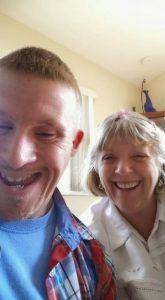 Matt with his mother, Jadene