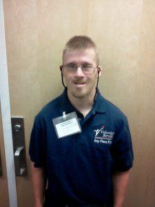 Matt volunteering at the local VA hospital