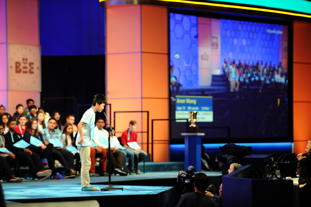 Aren participating in the Scripps National Spelling Bee.
