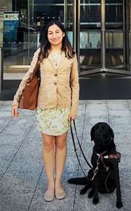 Ida and her service dog