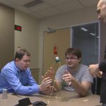 Christopher Pauley does the Marshmallow Challenge.