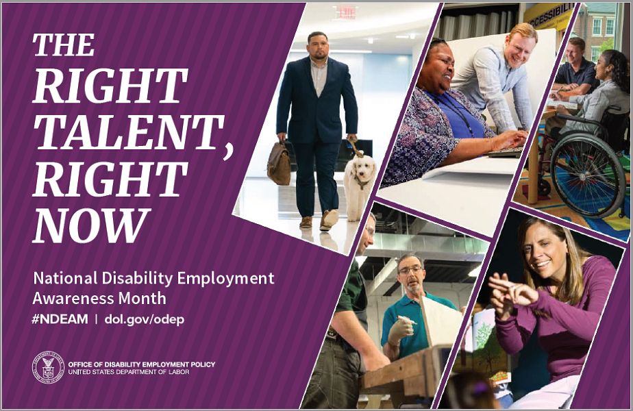 "NDEAM 2019 Poster, ""The Right Talent, Right Now"""