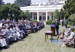 Group audience with President Carter