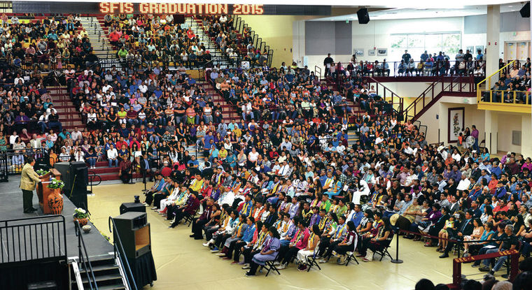 Santa Fe Indian School graduation is a celebration of tradition and family. (Photo courtesy: Clyde Mueller/The New Mexican)